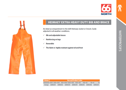 Heimaey Extra Heavy Duty Bib & Brace